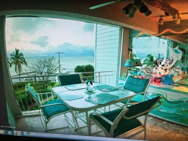 Key West Condo with a view of the Atlantic Ocean.