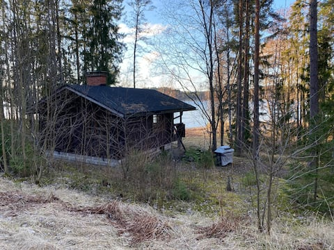 Cottage by the sea with wooden sauna