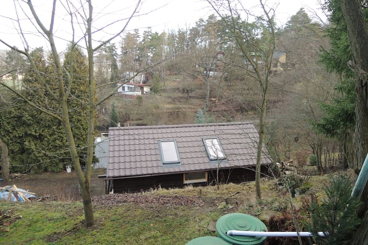 House in green garden, amazing wiev, centre 40 min - Praha - Guesthouse