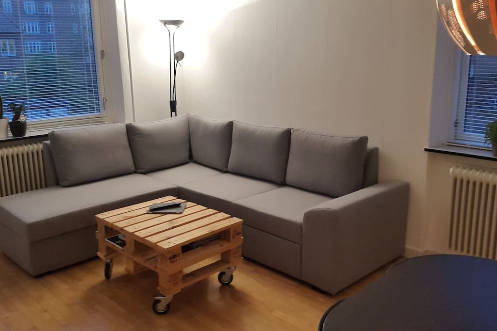 Cosy couch area. Couch can be folded to a 2 person bed
