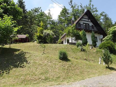 Kuća na osami pokraj jezera