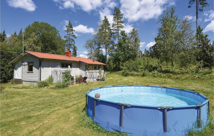 Nice home in Fristad with Outdoor swimming pool and 2 Bedrooms