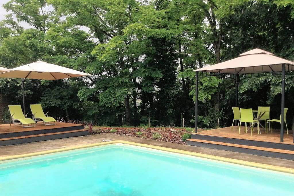 Relax on the two shaded pool decks
