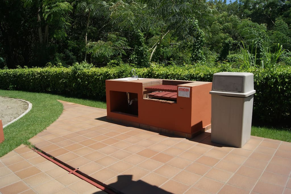 BBQ station at playground area