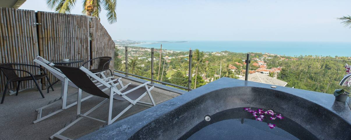 Studio lilou/jacuzzy/sea view