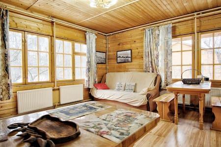 Spacious house made of pine beams