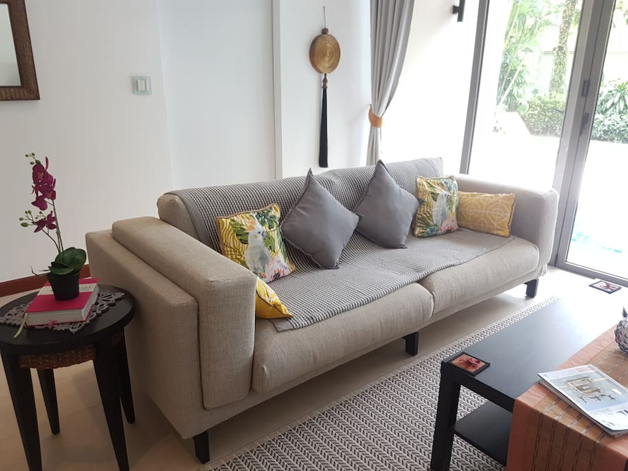 Brand new sofa and accessories