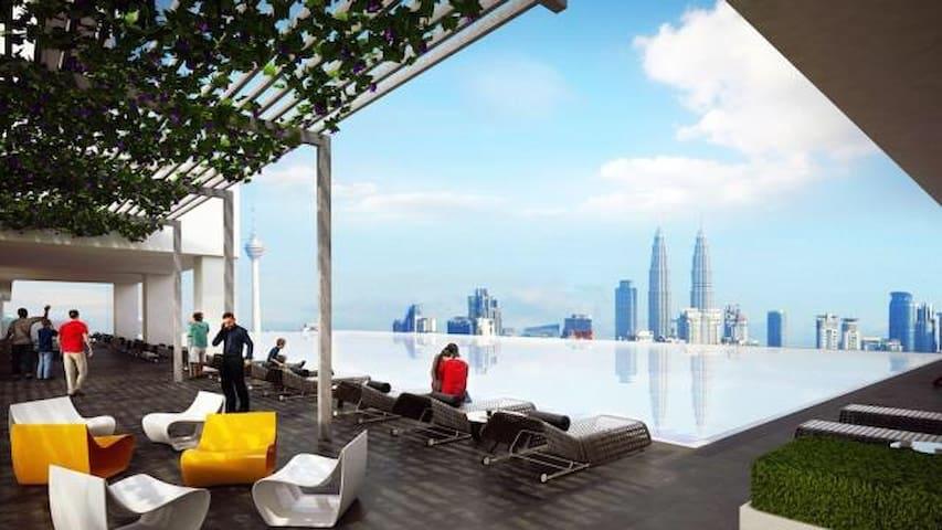 五星级高级全新公寓,优越地点、高楼层景观,舒适二居室 - Kuala Lumpur - Appartement