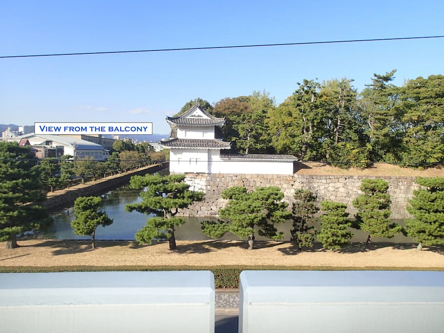 Stunning view of the Shogun's castle from the balcony.