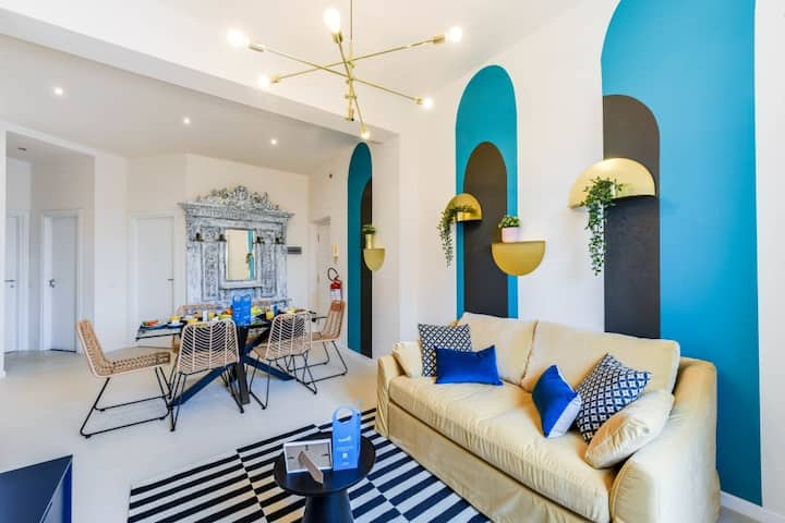 Fun & Colorful 2BDR in Heart of Milan *Balcony*