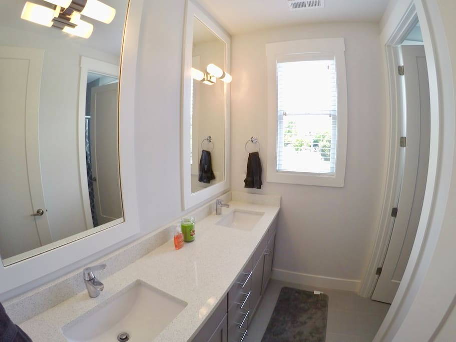 Private bathroom with a double vanity