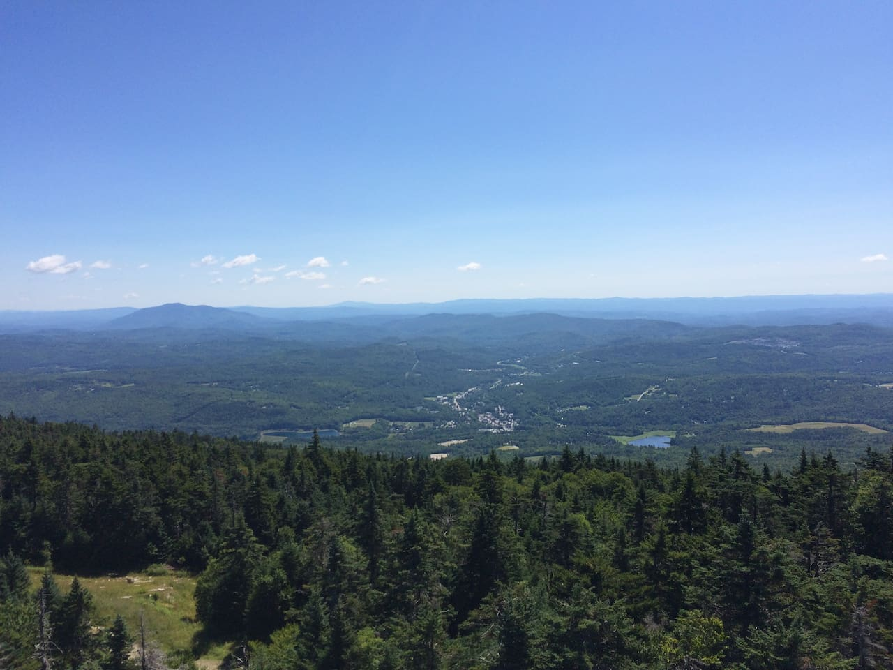 Top of Okemo looking at downtown Ludlow