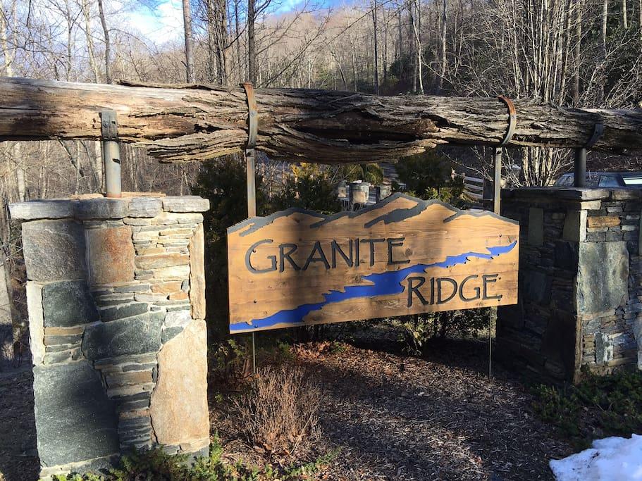 Entrance to Granite Ridge gated community