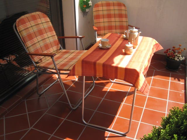 Nice terrace for morning coffee