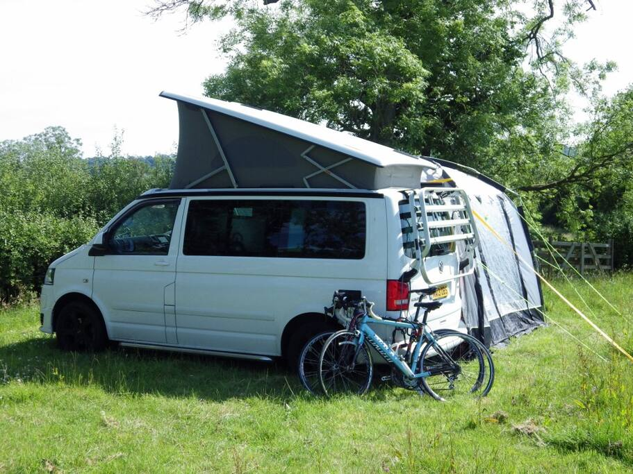 Campervans welcome, but we cannot accept caravans.