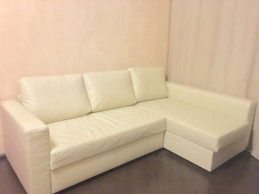 Sofa in big room, extra 1-3 beds is possible including for child