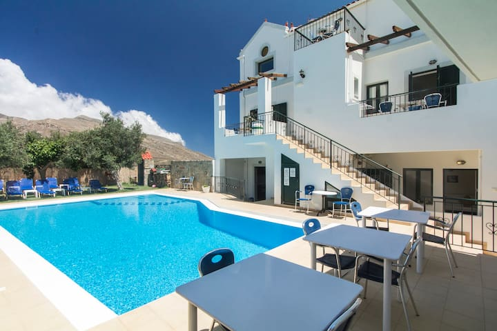 Duplex for 5p, 1BD/2BR, Pool View, Balos-Falasarna