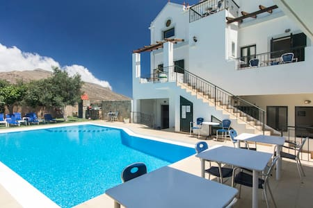 Duplex for 5p, 1BD/2BR, Pool View, Balos-Falasarna