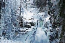 Triberger Wasserfälle im Winter / triberg waterfalls during wintertime      ©Stadt Triberg