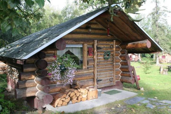 Trapper Dan's, a historic cabin in Hope, Alaska