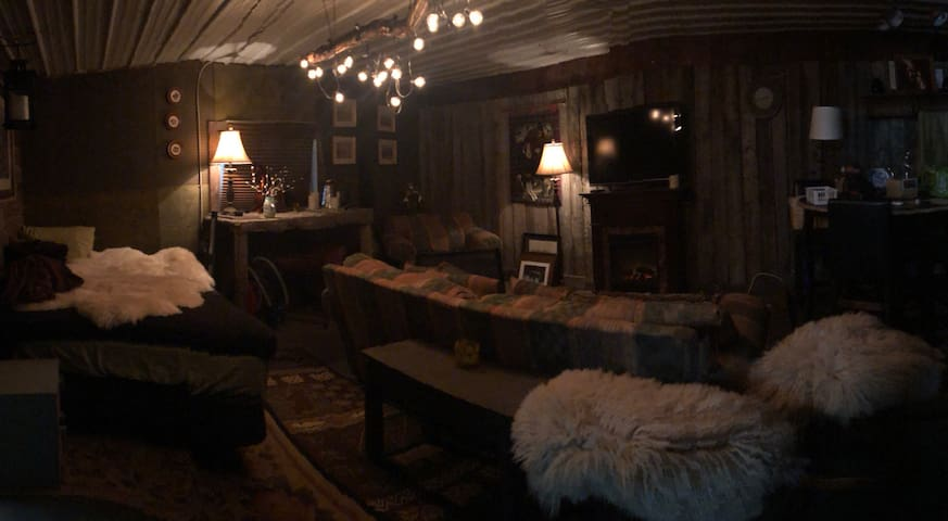 Rustic cozy space inside Equestrian Center.
