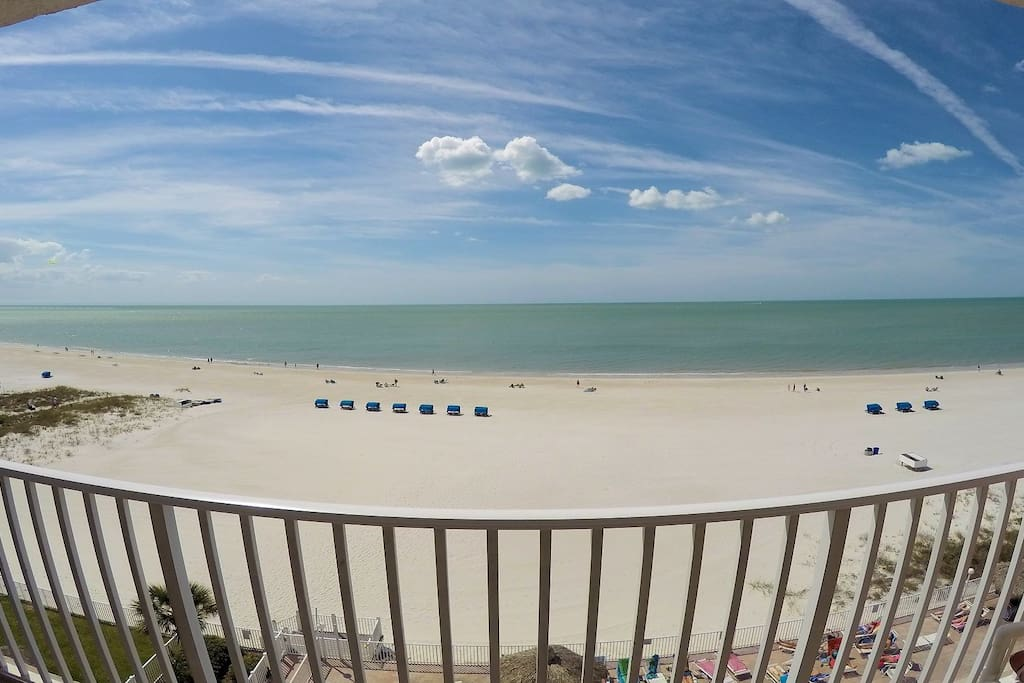 Mid Morning on our Sea Breeze Madeira Beach Front Balcony
