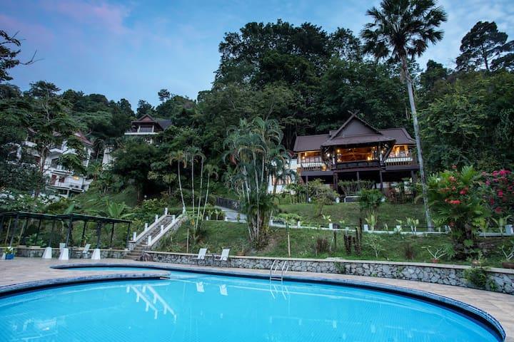 Patong Seaview Pool Modern Thai Villa, 4Bedrooms⛺