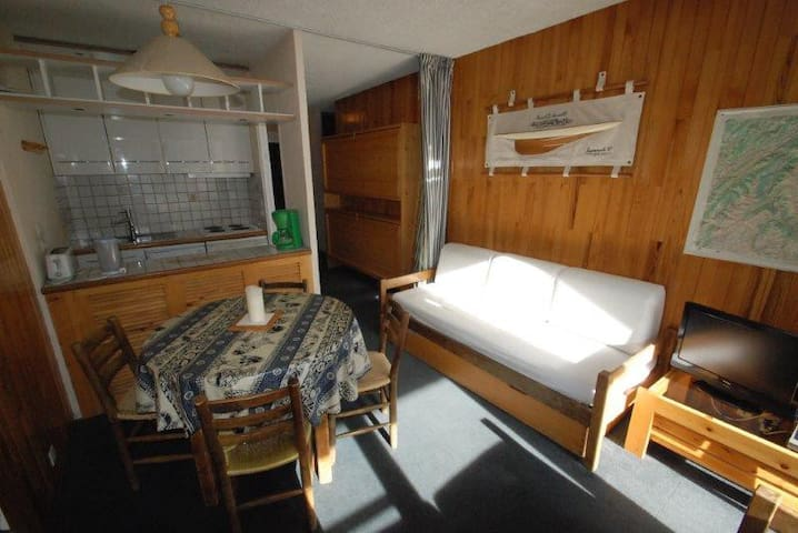 CA78 - 1 separated bedroom apt. Ski in and out. South/West facing view - TIGNES - Byt