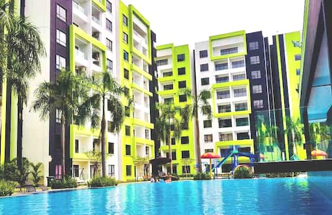 Ipoh Manhattan Condo with Water Park (Pool View)