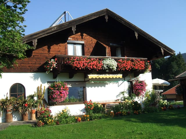 Guest room with balcony in the Bavarian Alps