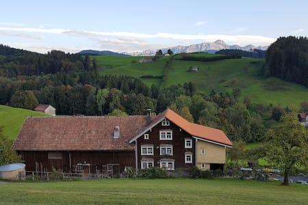 Wohnung in Appenzeller Bauernhaus am Südhang. - Herisau - Lägenhet