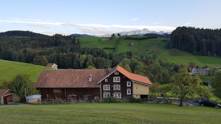 Wohnung in Appenzeller Bauernhaus am Südhang.