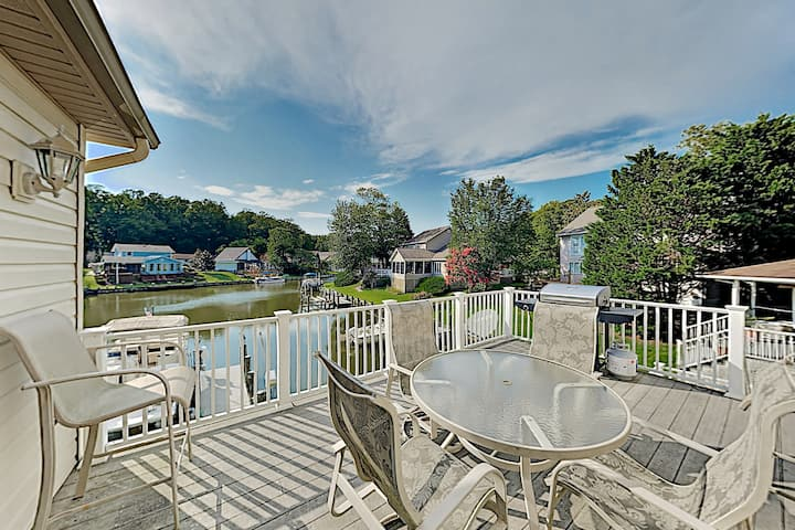 Waterfront Ocean Pines Home with Private Dock
