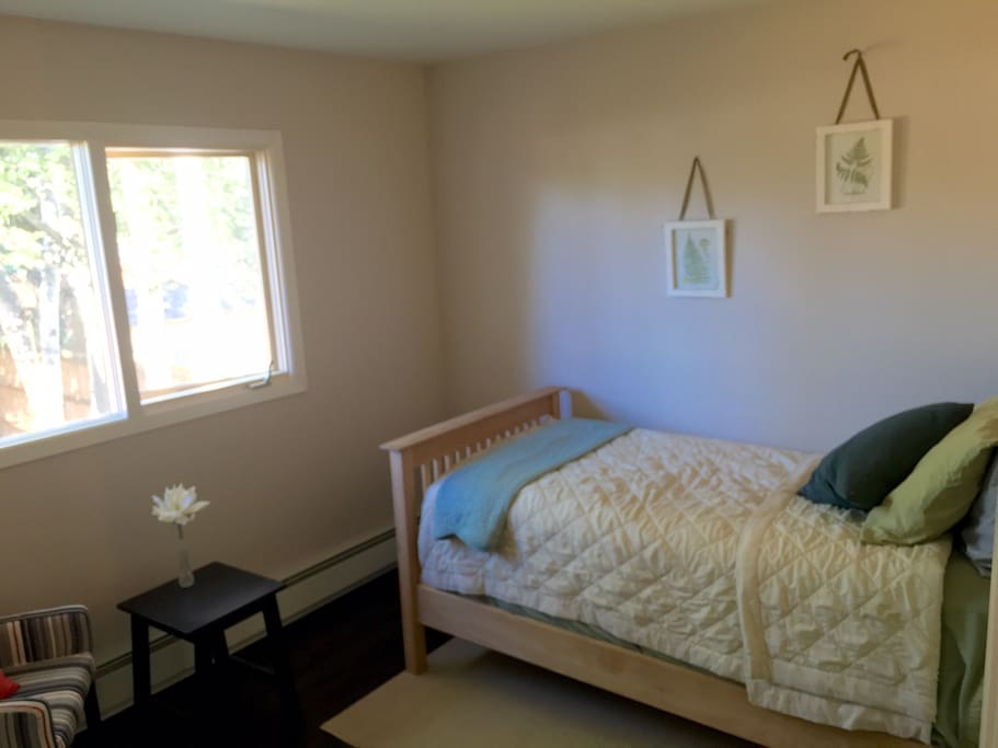 Second bedroom with tons of natural light, overlooking your private backyard.