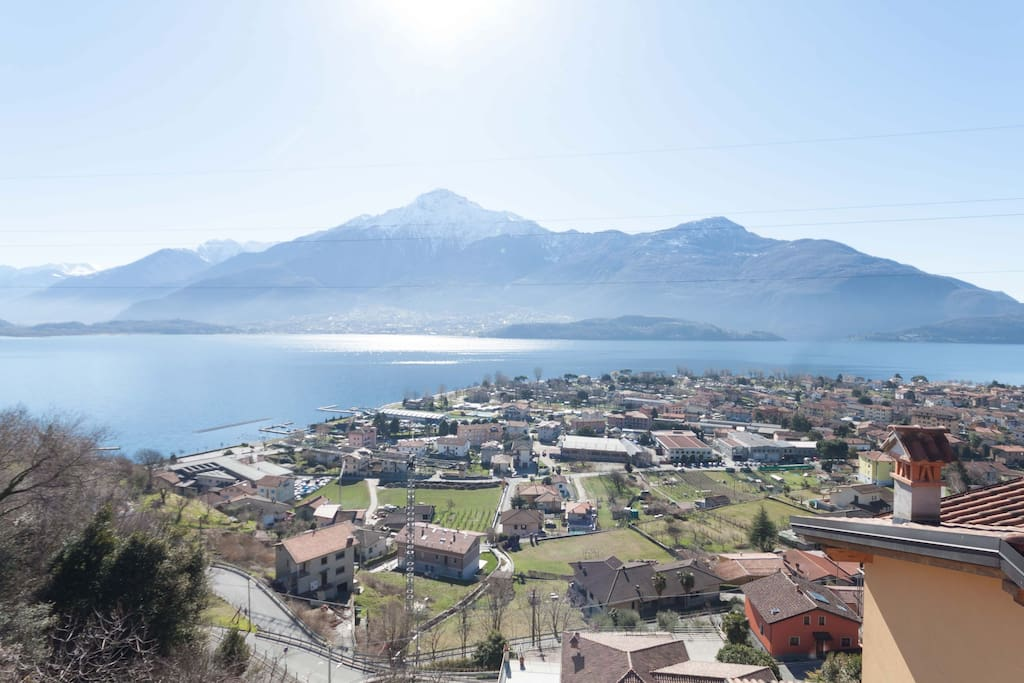 the views over Domaso
