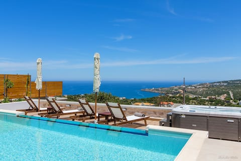 NEW Villa★Prv Glass Infinity Pool★Jacuzzi★SeaView