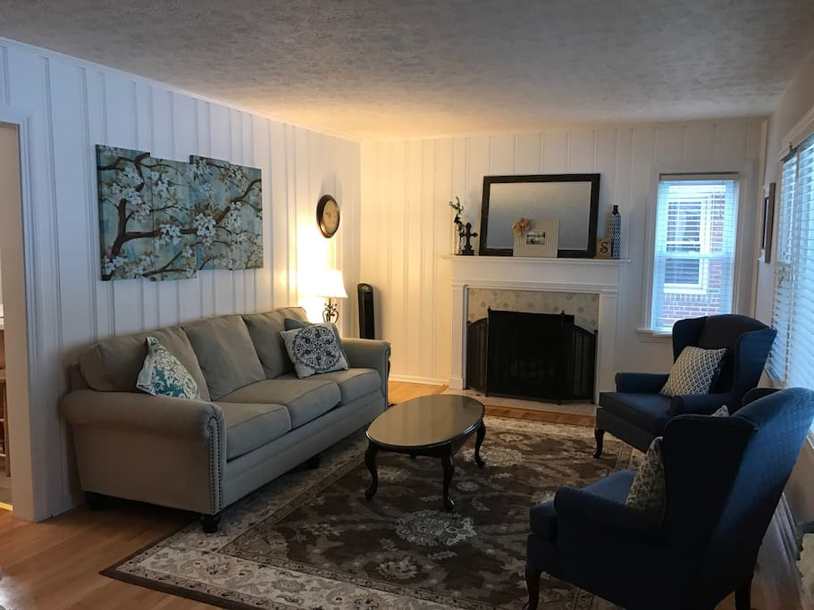 Our spacious formal living room is a great place to unwind after a long day at the races.