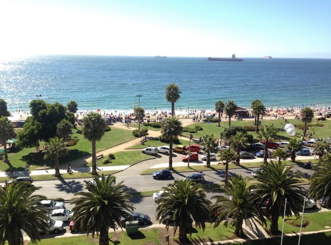 Oceanfront Apartment Great Location Viña Del Mar