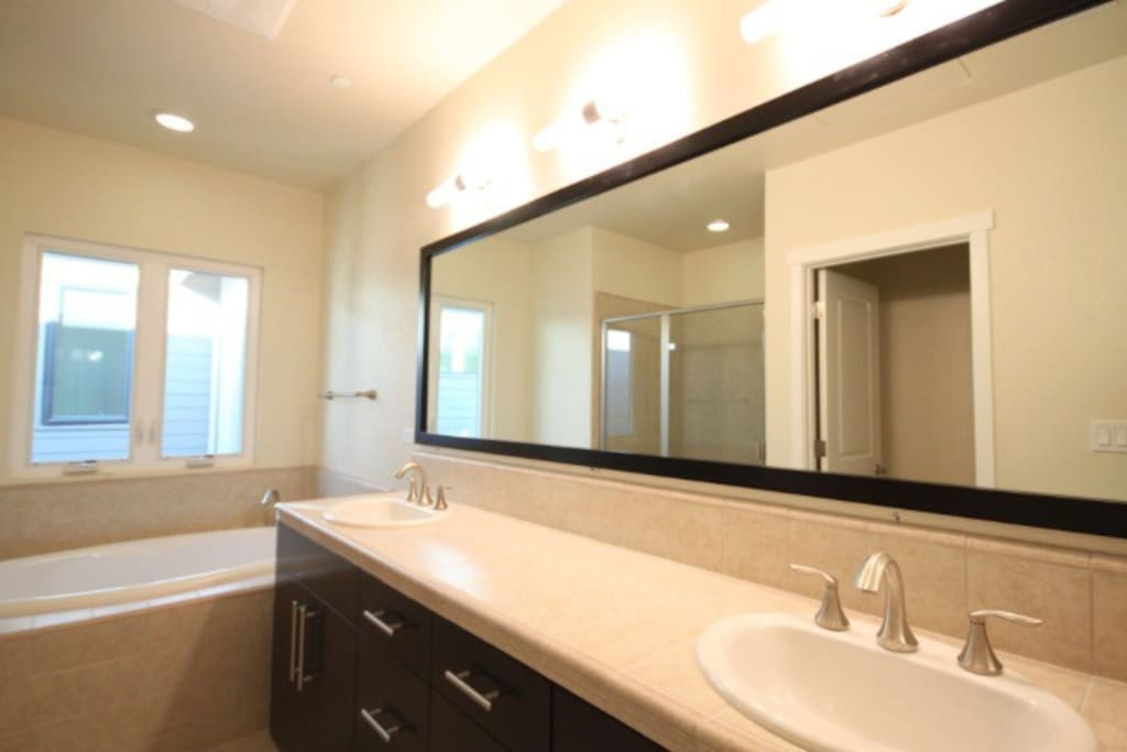 Private Bathroom with dual sinks