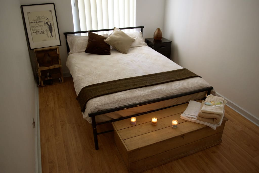 Your simple but welcoming bedroom!