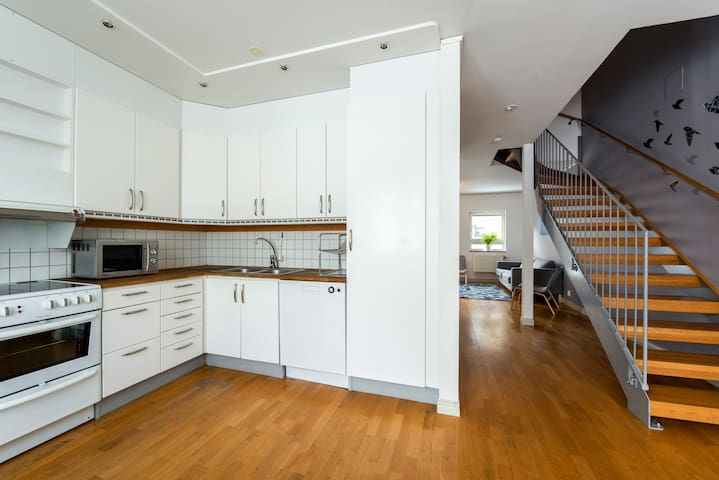 House on the roof! Central, middle of city 100sqm! - Stockholm - Hus