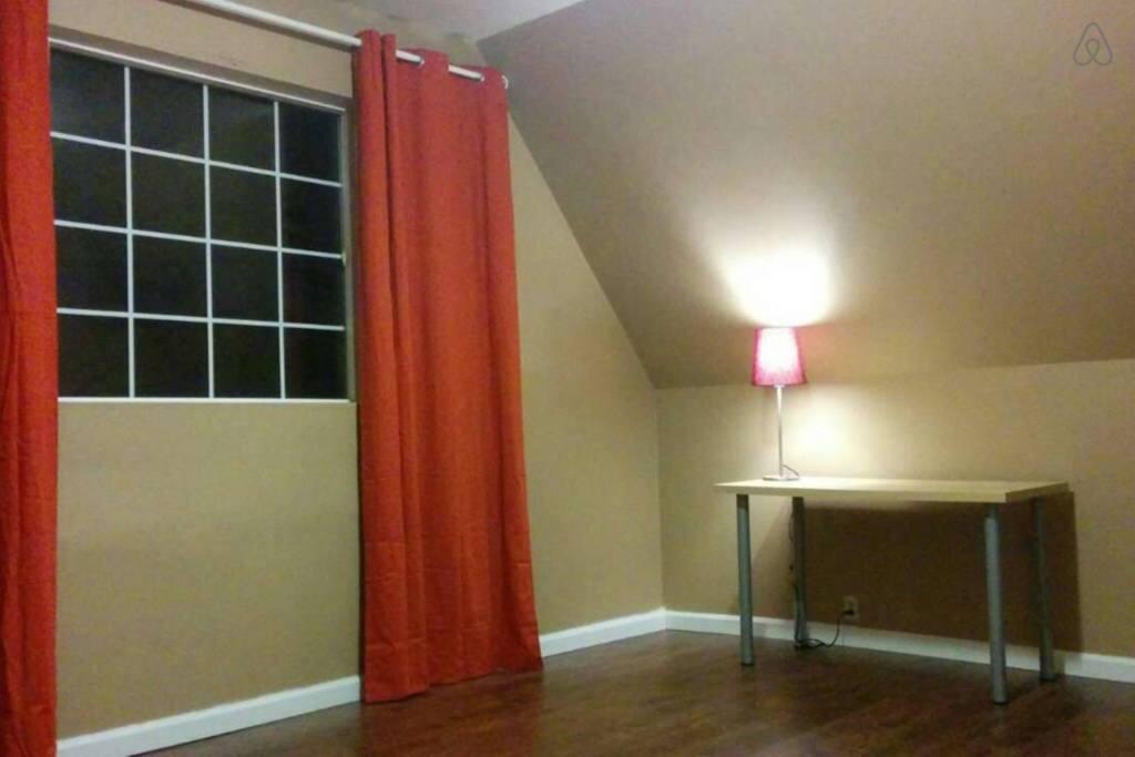 Cozy room at night.