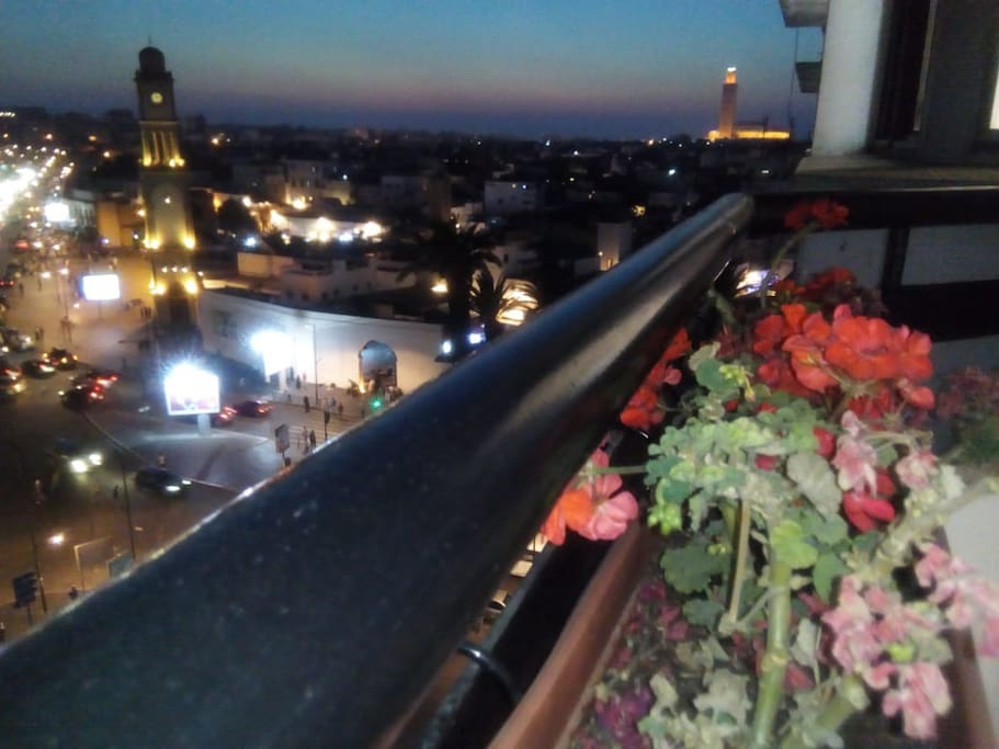 View on the hassan 2 mosque from the bed room Balcony