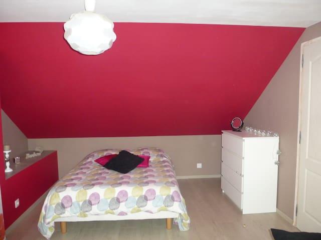 Chambres spacieuses et confortables - Saint-Aubin-le-Guichard - Hus