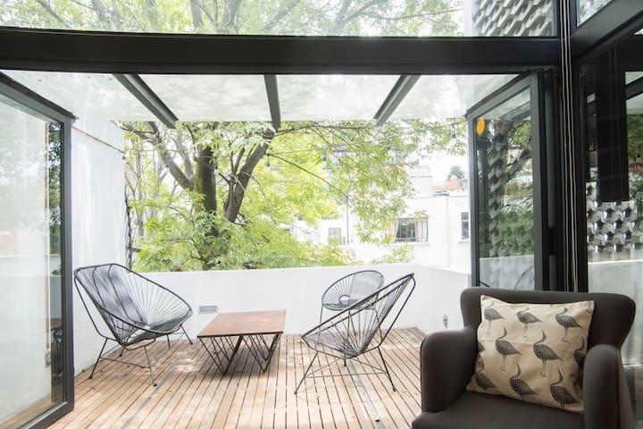 Condesa centrica hermosa casa de lujo remodelada