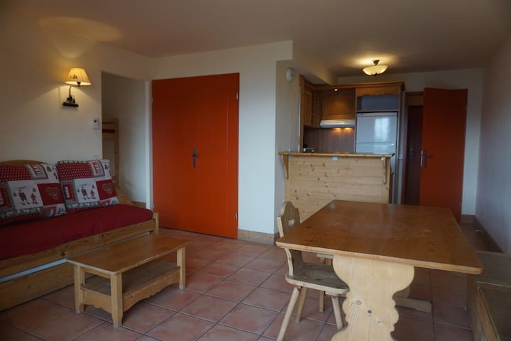 PRK102 - Cozy apartment with large terrace and mountain view for 6, Pra Loup
