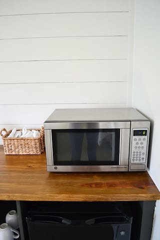 Microwave available with fridge