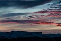 seltenes Morgenpanorama
