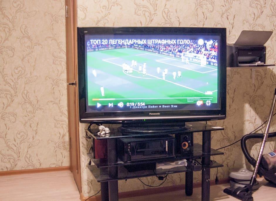 big tv, over meter in diagonal