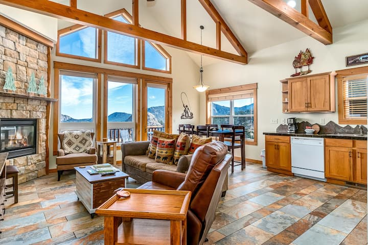 Mount Neota 33 - 2 Br condo with 2 fireplaces and Marys Lake and mountain views!